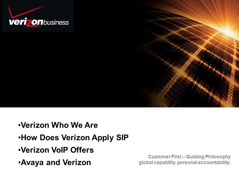 How Does Verizon Apply SIP Verizon VoIP Offers Avaya and Verizon