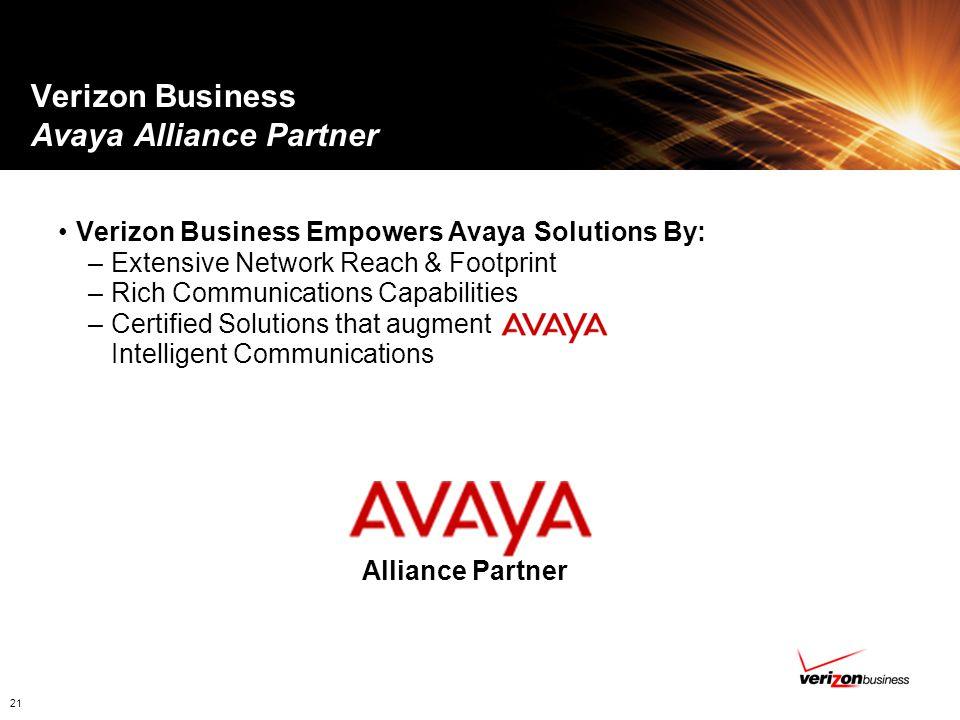 Verizon Business Avaya Alliance Partner