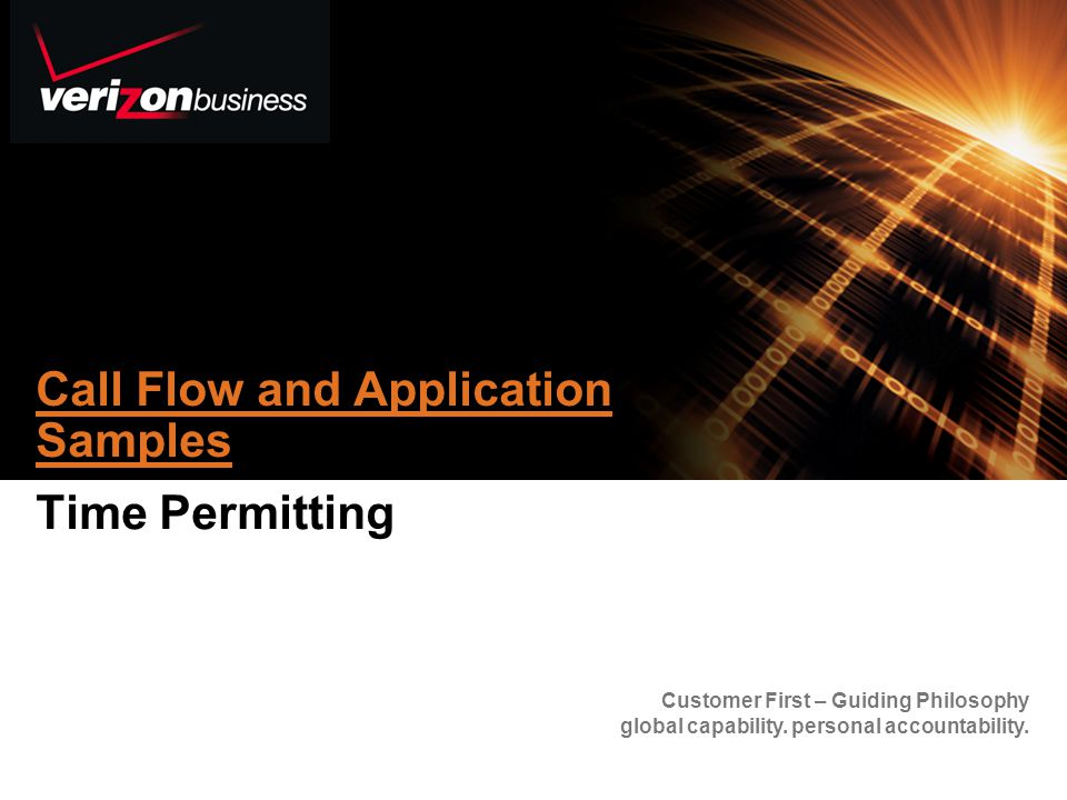 Call Flow and Application Samples