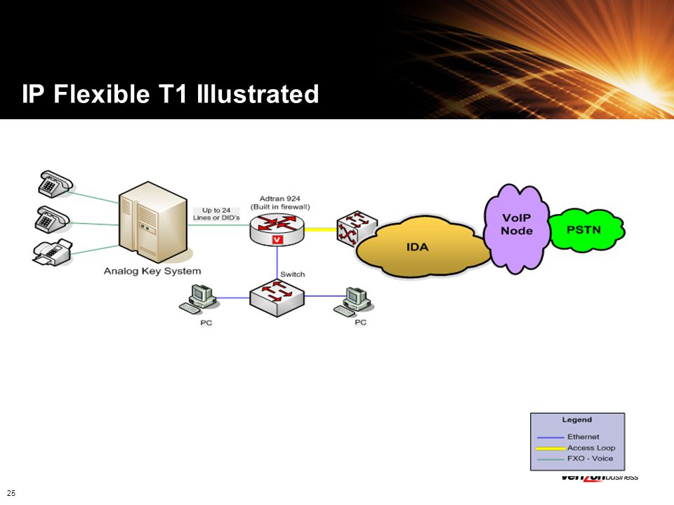 IP Flexible T1 Illustrated