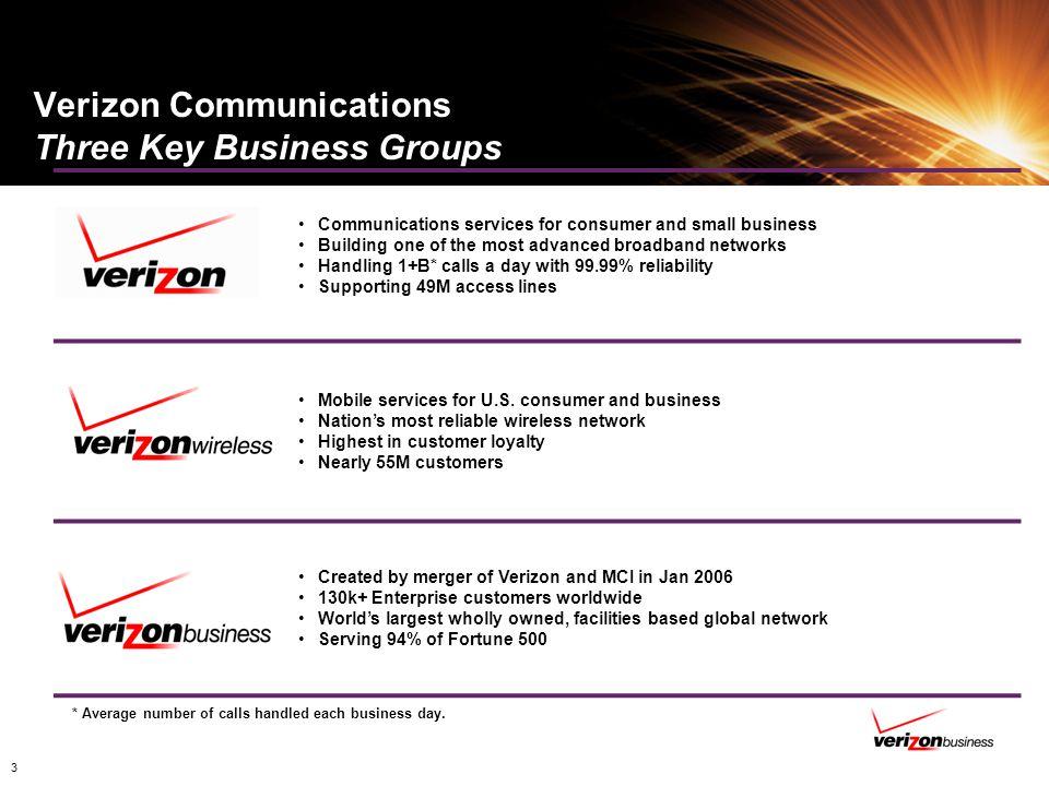 Verizon Communications Three Key Business Groups