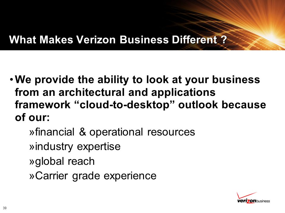 What Makes Verizon Business Different