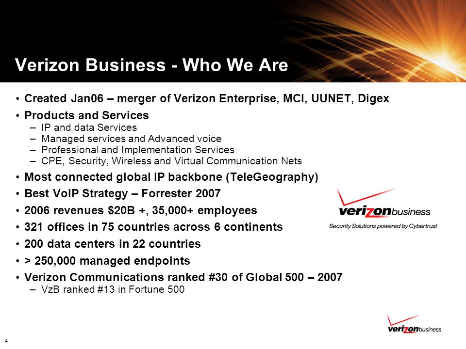 Verizon Business - Who We Are