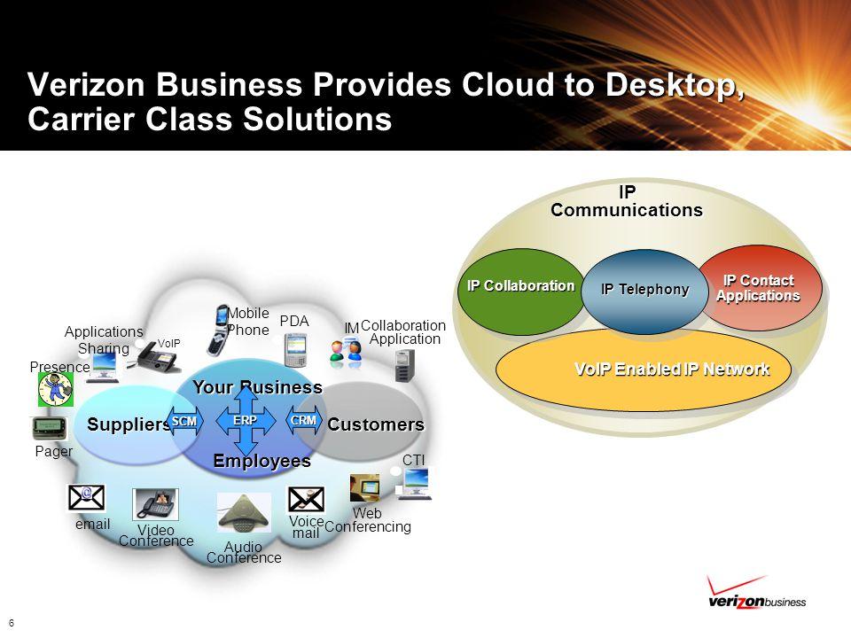 Verizon Business Provides Cloud to Desktop, Carrier Class Solutions