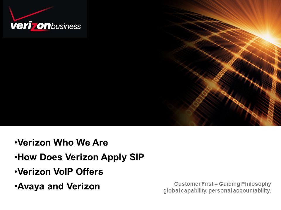 Verizon Who We Are How Does Verizon Apply SIP Verizon VoIP Offers Avaya and Verizon
