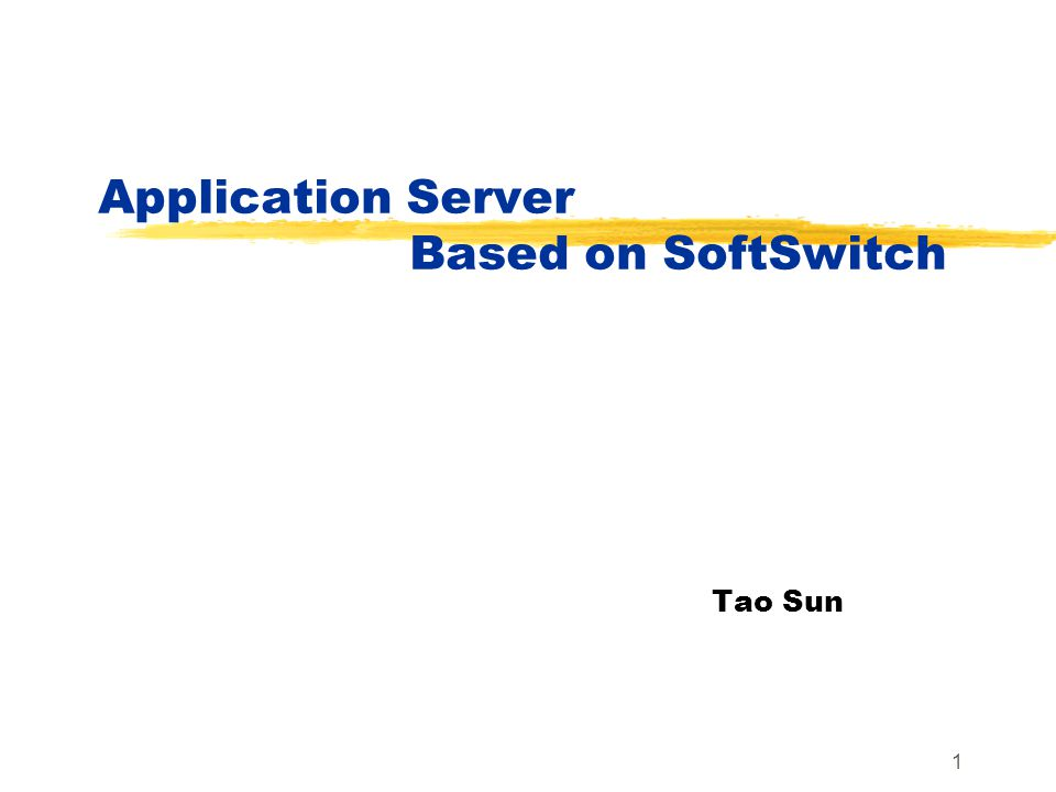Application Server Based on SoftSwitch