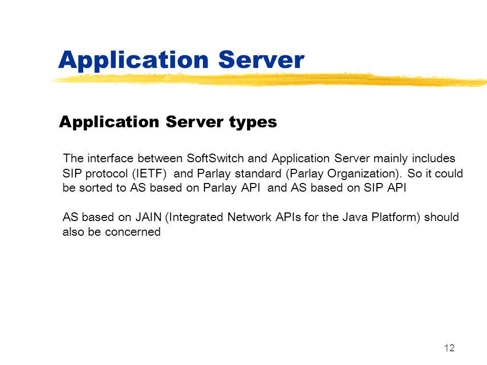 Application Server Application Server types