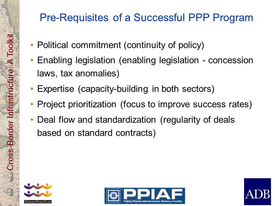 Pre-Requisites of a Successful PPP Program