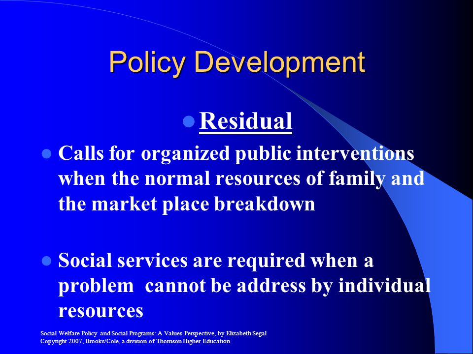 Policy Development Residual