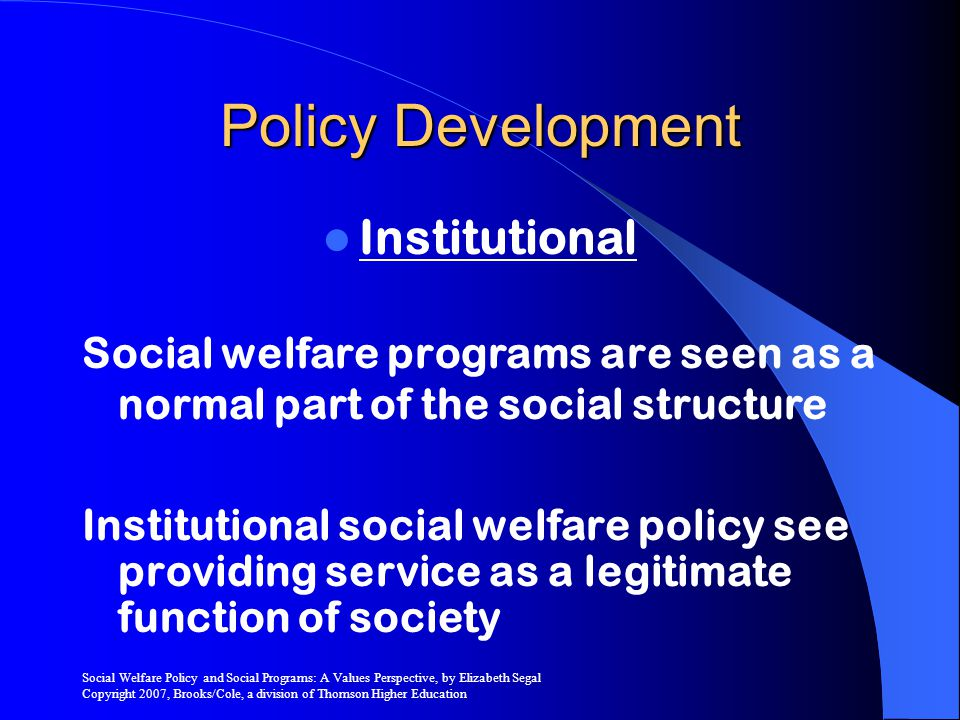 Policy Development Institutional