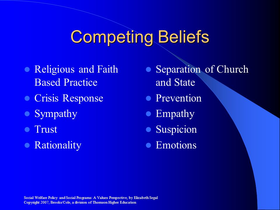 Competing Beliefs Religious and Faith Based Practice Crisis Response