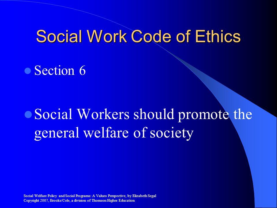 Social Work Code of Ethics