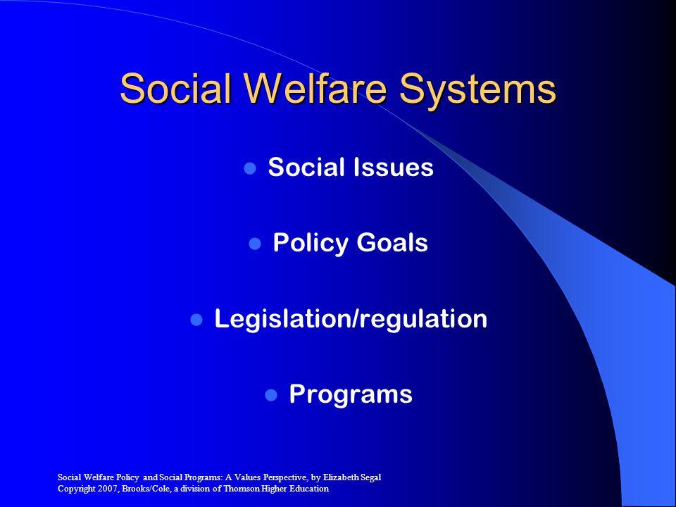 Social Welfare Systems