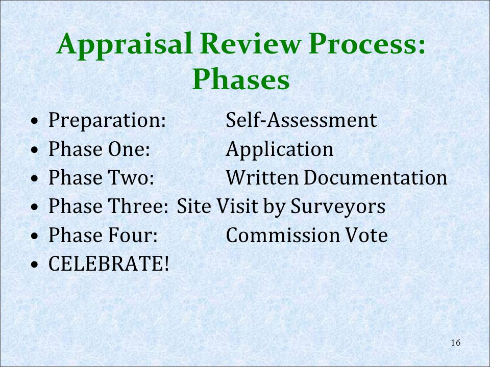 Appraisal Review Process: Phases
