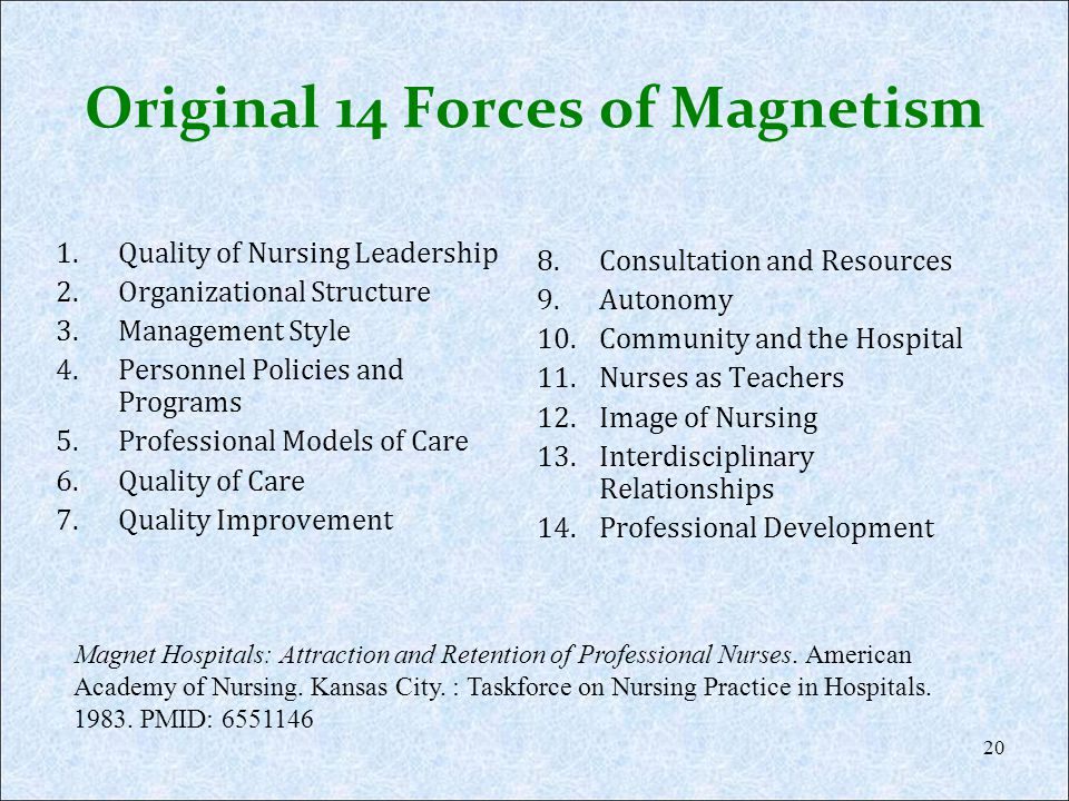 Original 14 Forces of Magnetism