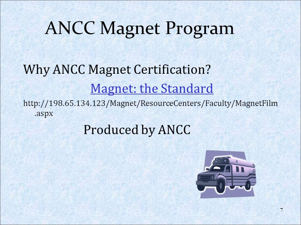 ANCC Magnet Program Why ANCC Magnet Certification