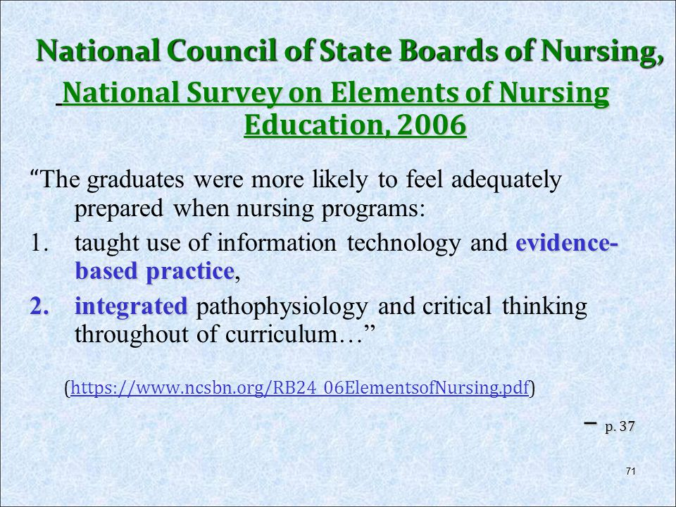 National Council of State Boards of Nursing,