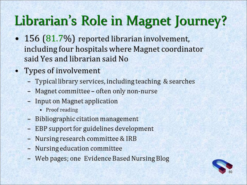 Librarian's Role in Magnet Journey