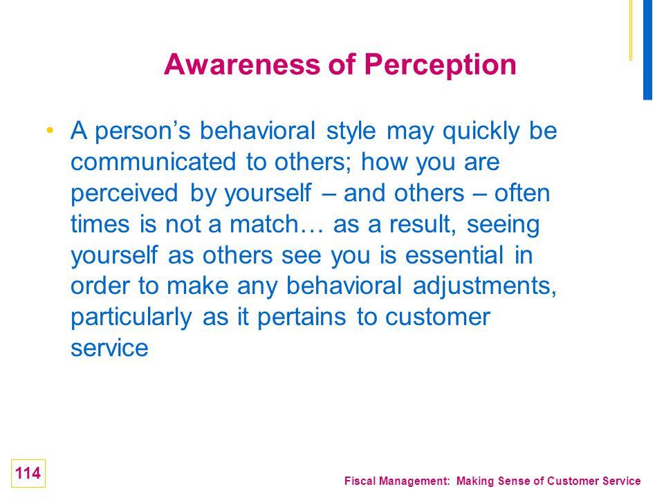Awareness of Perception