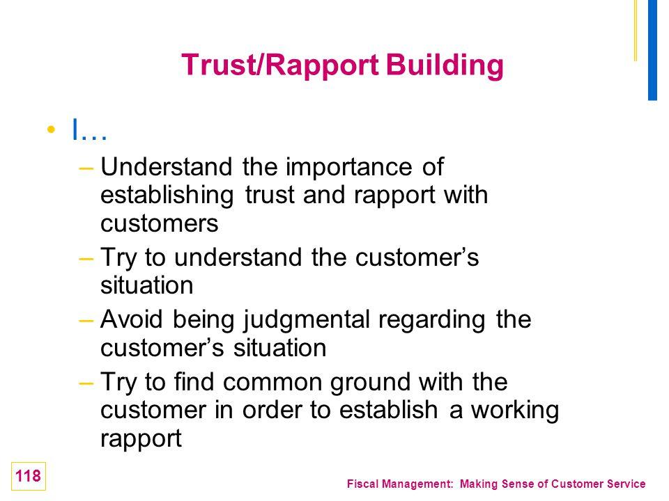 Trust/Rapport Building