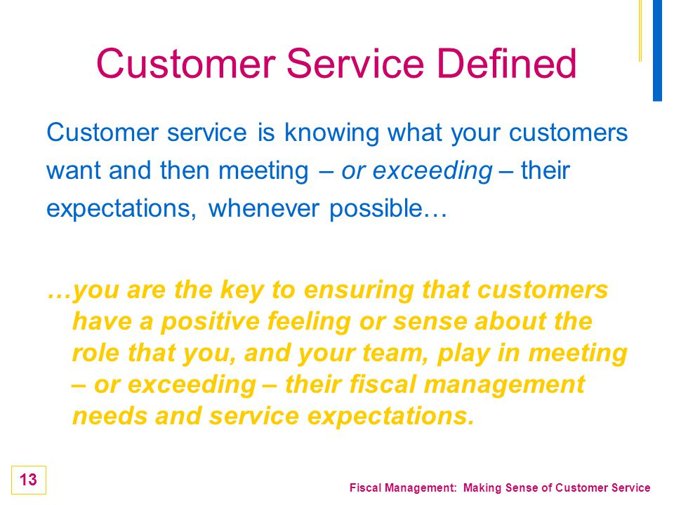 Customer Service Defined