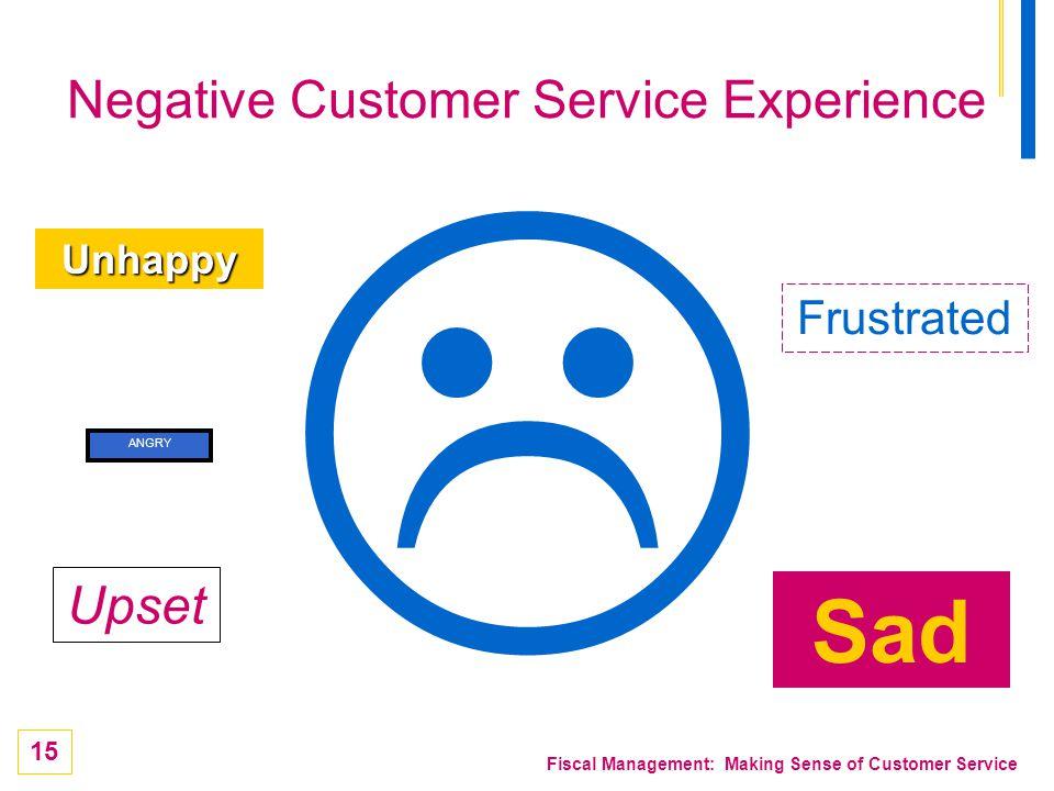Negative Customer Service Experience