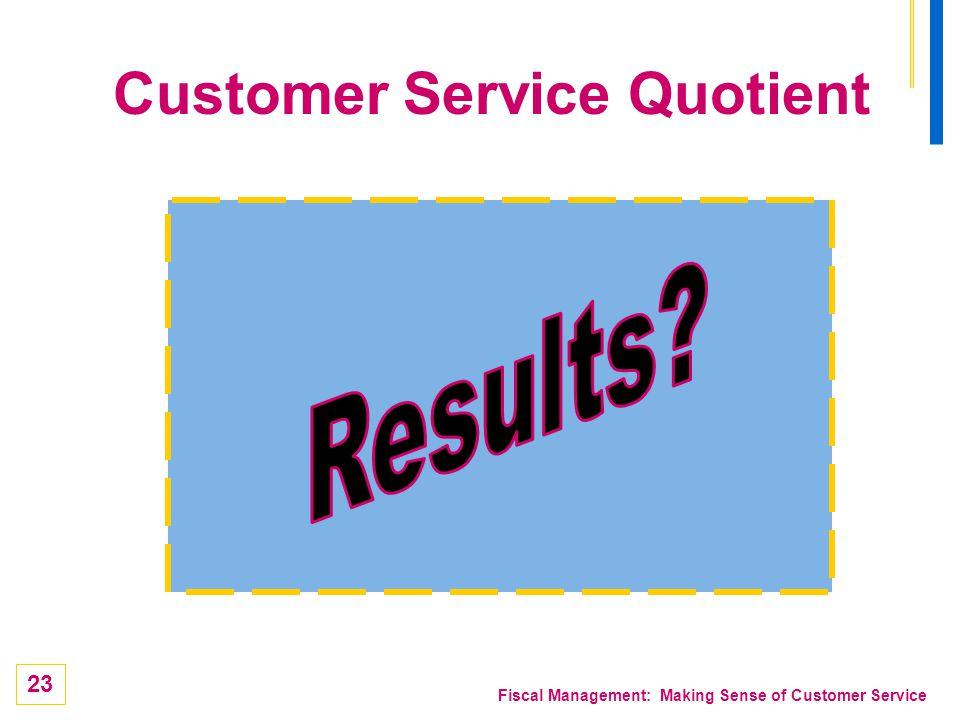 Customer Service Quotient