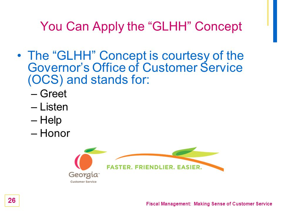 You Can Apply the GLHH Concept