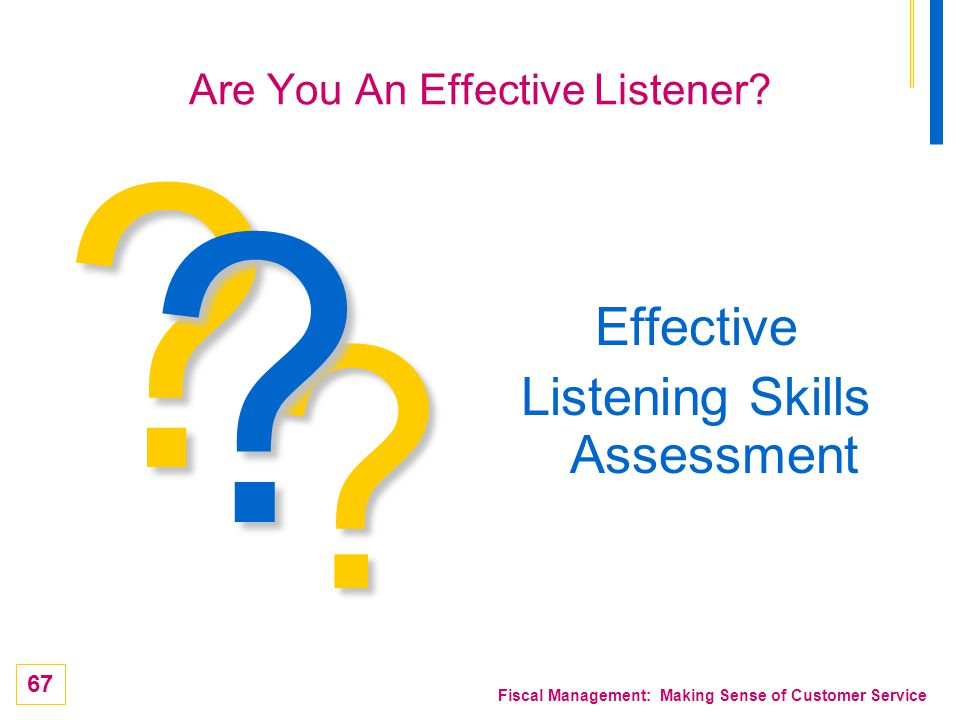 Are You An Effective Listener