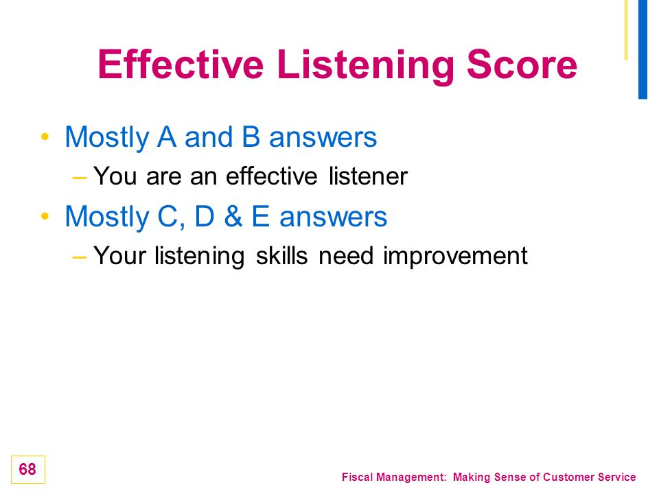 Effective Listening Score