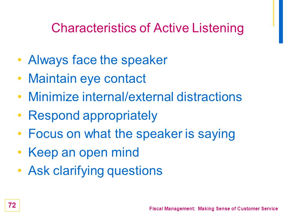 Characteristics of Active Listening