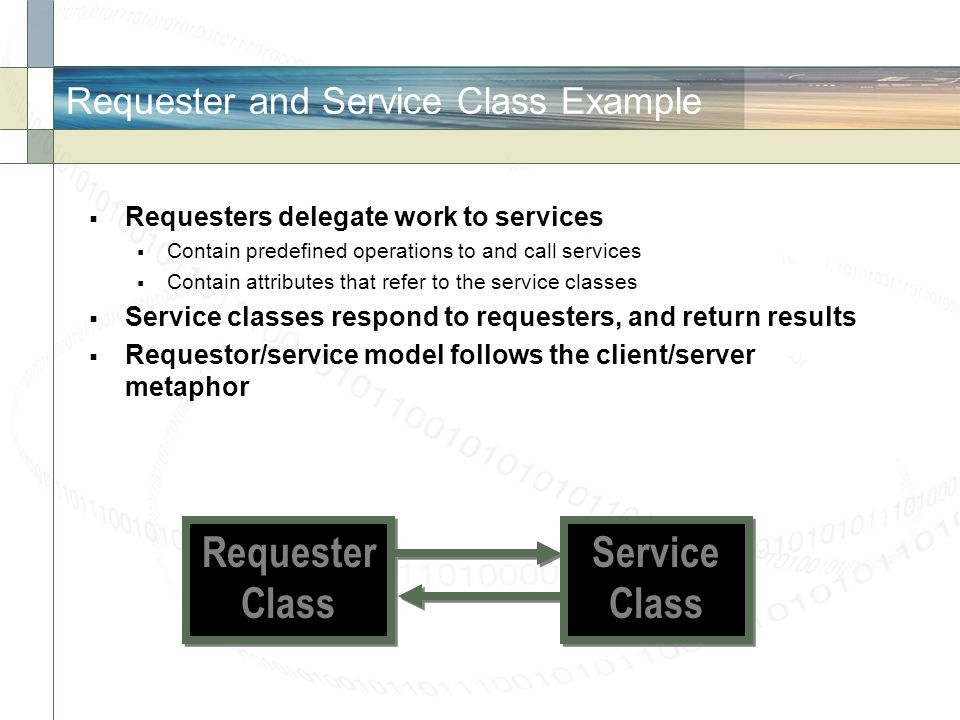 Requester and Service Class Example