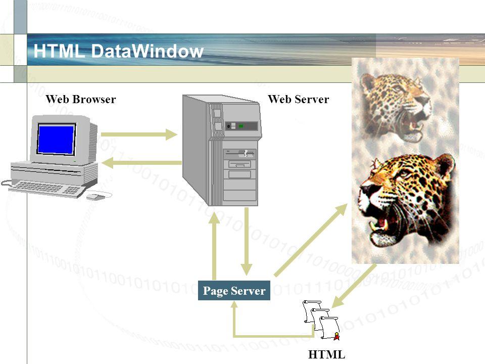 HTML DataWindow Web Browser Web Server Page Server HTML