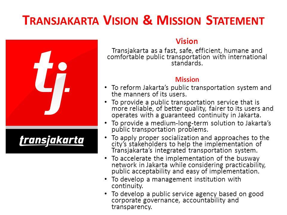 Transjakarta Vision & Mission Statement