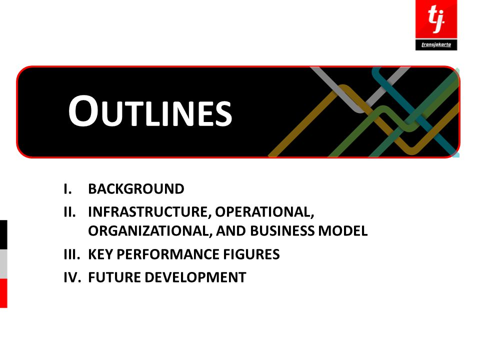 Outlines BACKGROUND. INFRASTRUCTURE, OPERATIONAL, ORGANIZATIONAL, AND BUSINESS MODEL. KEY PERFORMANCE FIGURES.