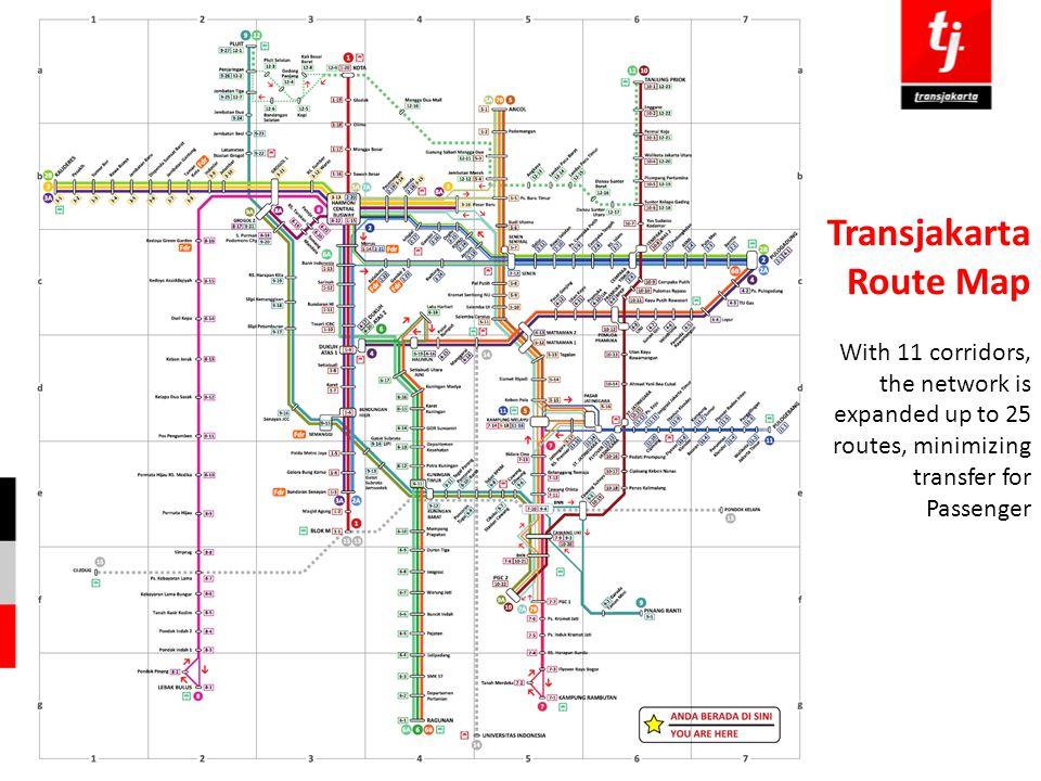 Transjakarta Route Map