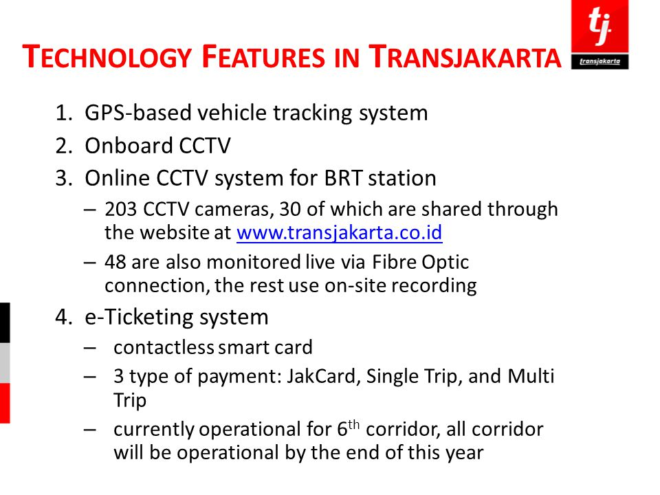 Technology Features in Transjakarta