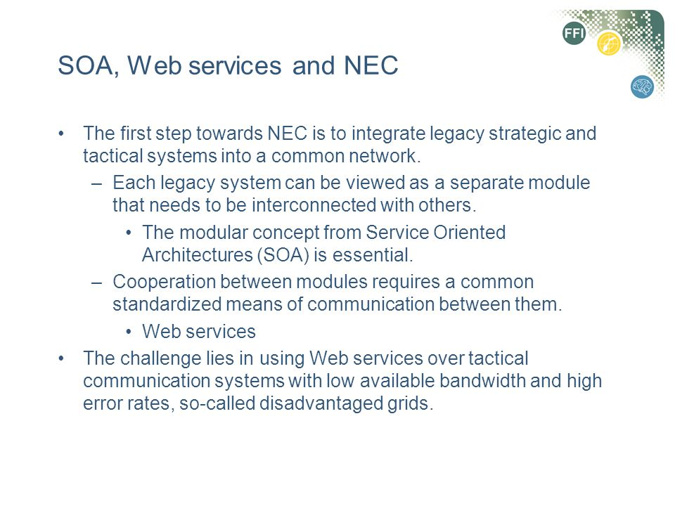 SOA, Web services and NEC