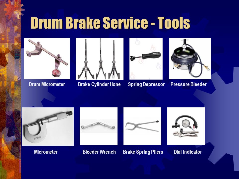 Drum Brake Service - Tools