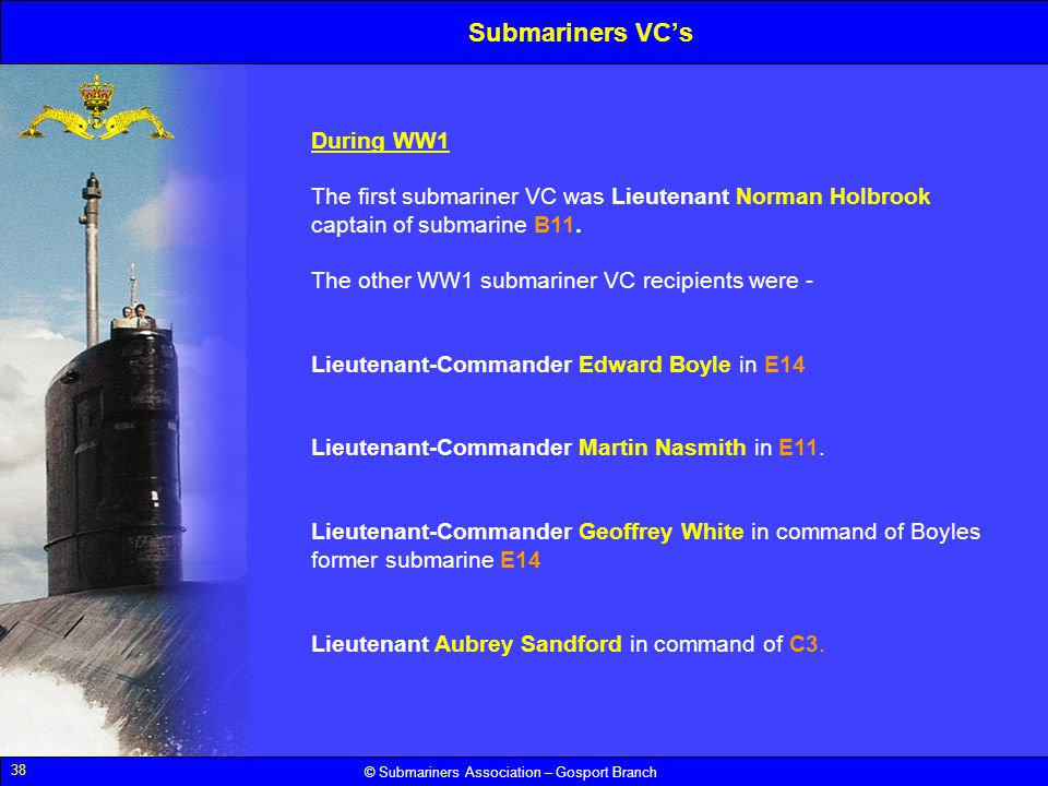 Submariners VC's During WW1