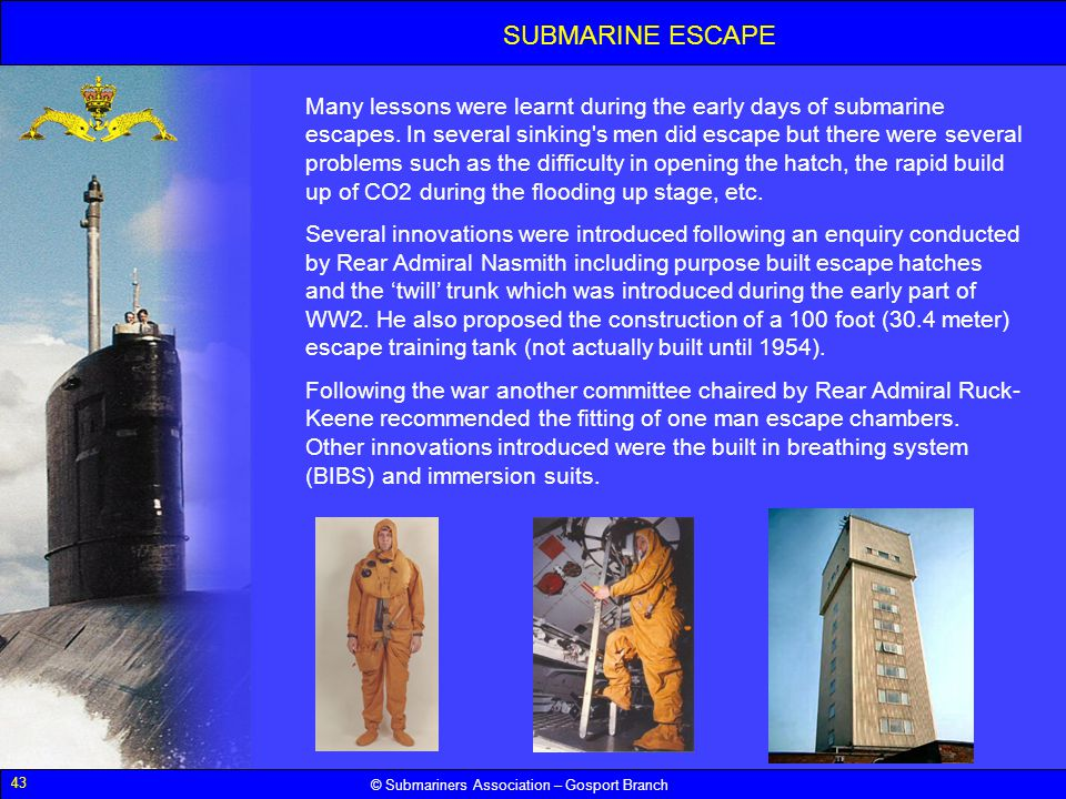 SUBMARINE ESCAPE
