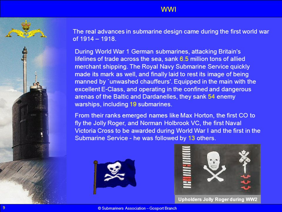 Upholders Jolly Roger during WW2