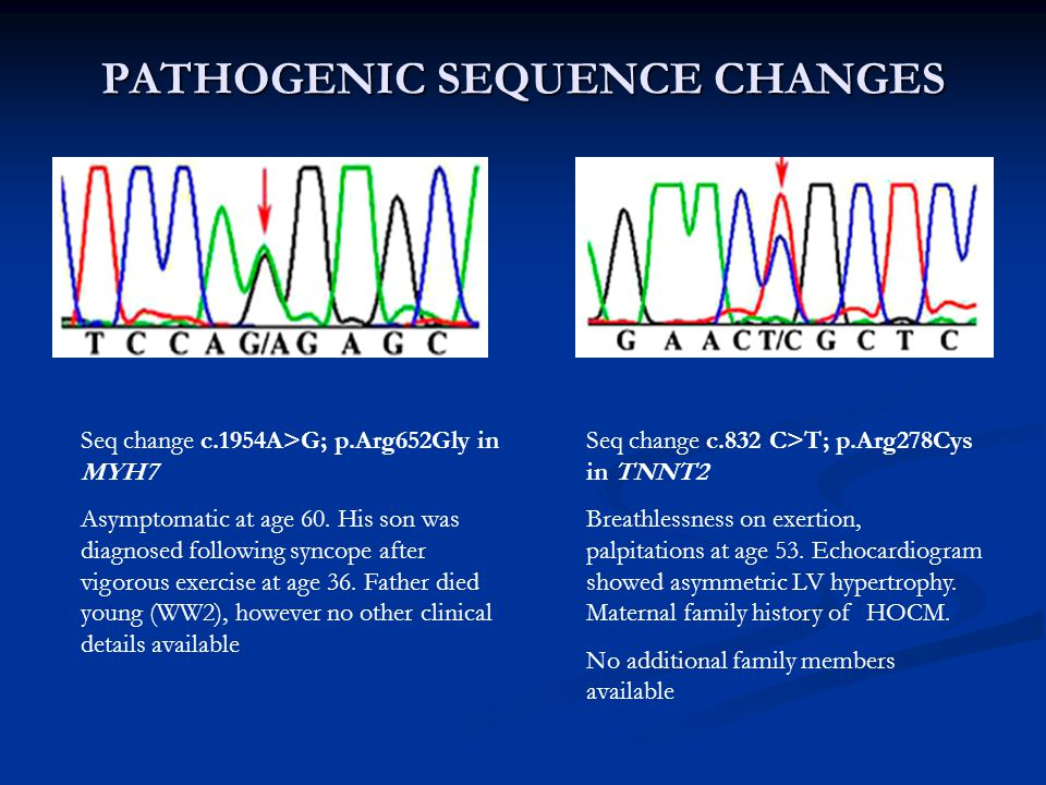 PATHOGENIC SEQUENCE CHANGES
