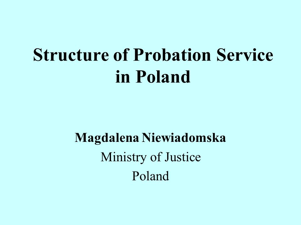 Structure of Probation Service in Poland