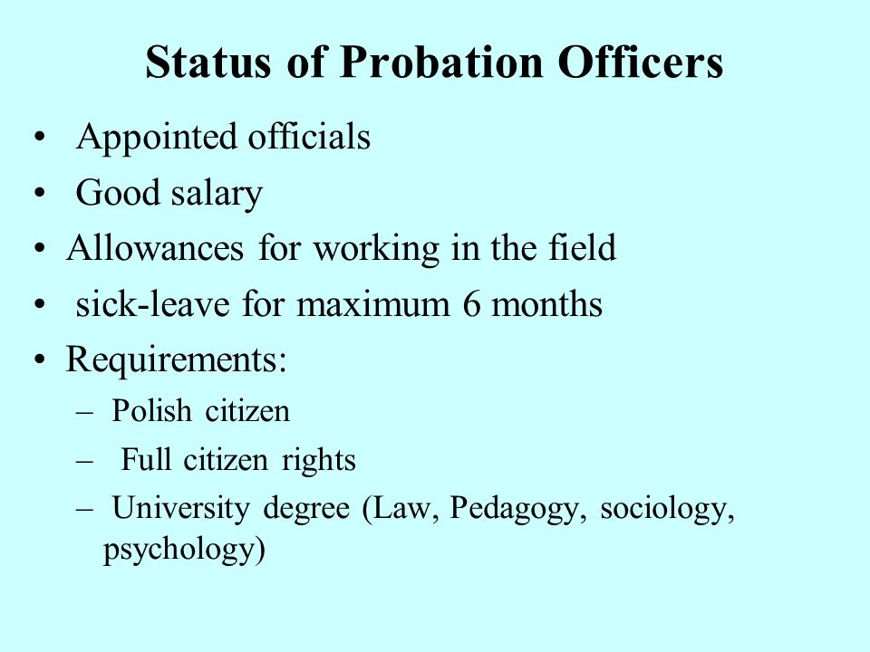 Status of Probation Officers