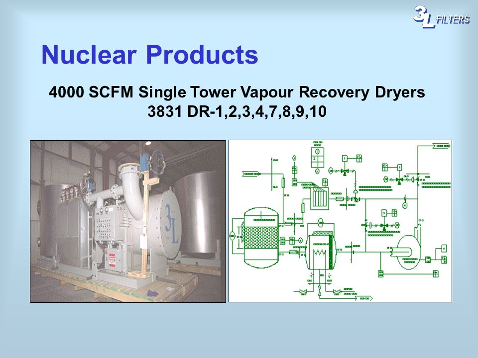 4000 SCFM Single Tower Vapour Recovery Dryers