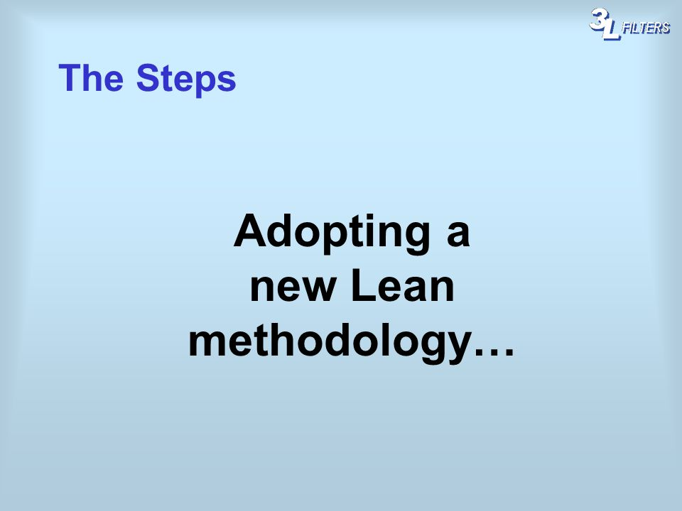 Adopting a new Lean methodology…