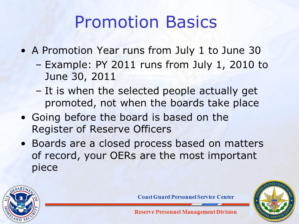Promotion Basics A Promotion Year runs from July 1 to June 30