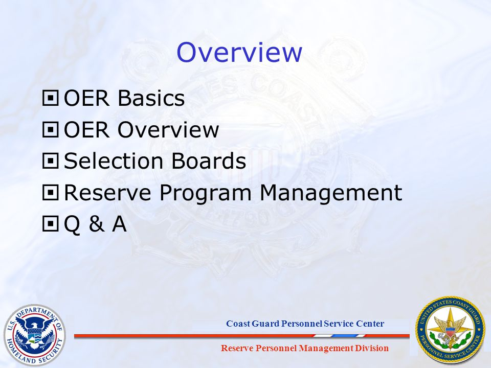 Overview OER Basics OER Overview Selection Boards