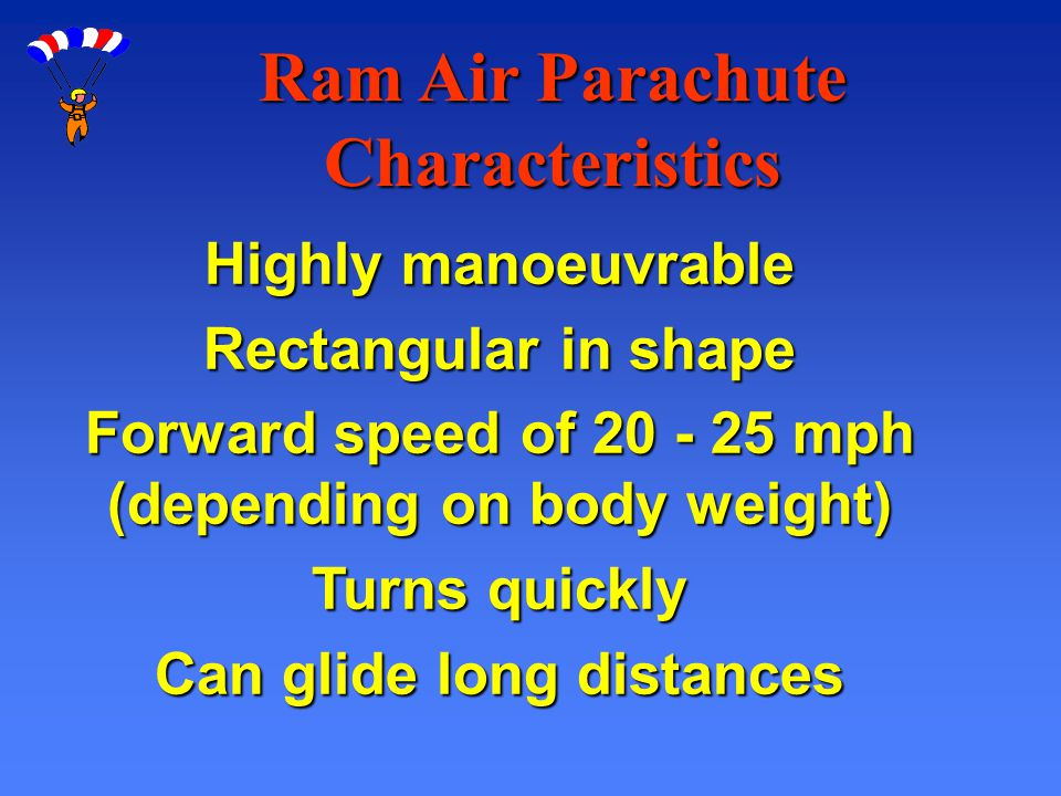 Ram Air Parachute Characteristics
